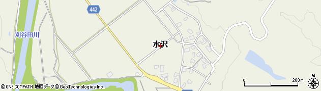 新潟県長岡市水沢周辺の地図