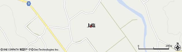 新潟県長岡市上塩周辺の地図