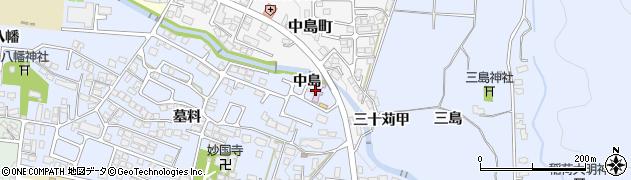 福島県会津若松市一箕町大字八幡(中島)周辺の地図