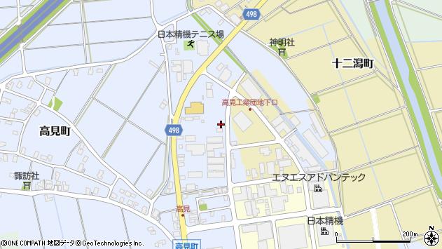 〒940-0004 新潟県長岡市高見町の地図