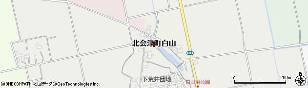 福島県会津若松市北会津町白山周辺の地図
