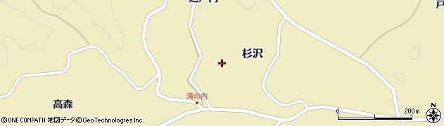 福島県二本松市杉沢(込戸内)周辺の地図