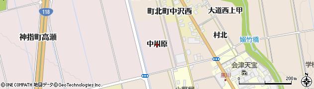 福島県会津若松市神指町大字高瀬(中川原)周辺の地図
