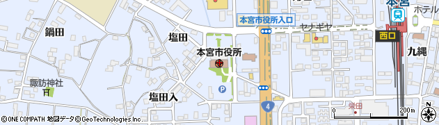本宮市役所 社会福祉課生活支援係周辺の地図