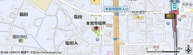 福島県本宮市周辺の地図