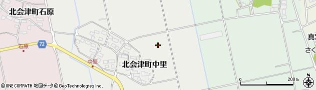 福島県会津若松市北会津町中里(古川)周辺の地図