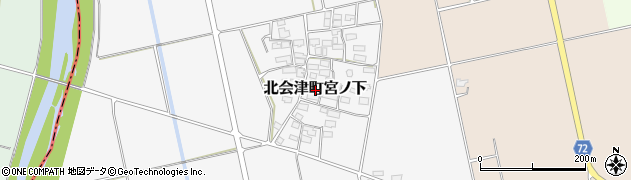 福島県会津若松市北会津町宮ノ下周辺の地図