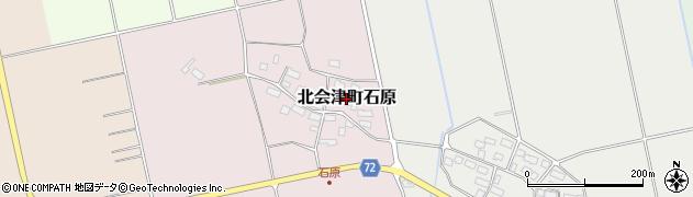 福島県会津若松市北会津町石原周辺の地図