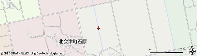 福島県会津若松市北会津町中里(下川原)周辺の地図