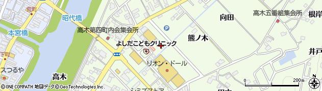 髪座美容室 本宮店周辺の地図