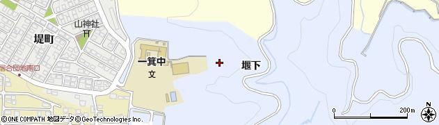福島県会津若松市一箕町大字八幡(堰下)周辺の地図