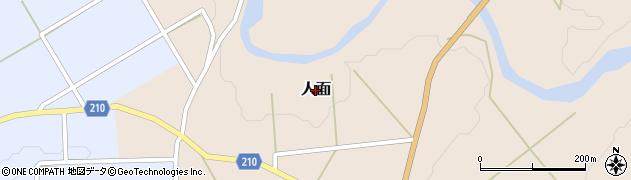 新潟県長岡市人面周辺の地図