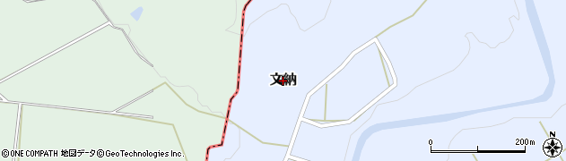 新潟県長岡市文納周辺の地図