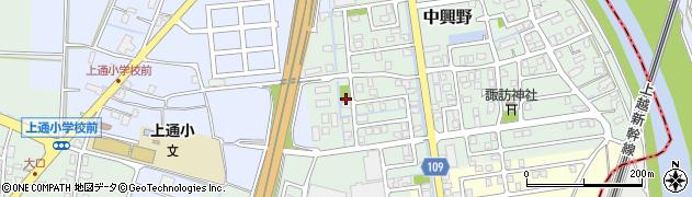 新潟県長岡市新栄周辺の地図