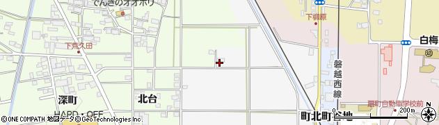 福島県会津若松市町北町大字上荒久田(村北乙)周辺の地図