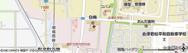福島県会津若松市一箕町大字亀賀(北柳原)周辺の地図