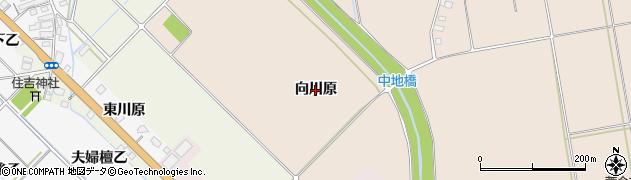 福島県会津若松市町北町大字中沢(向川原)周辺の地図