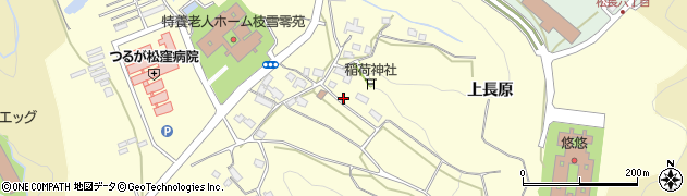 福島県会津若松市一箕町大字松長(上長原)周辺の地図