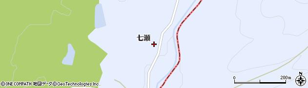 福島県郡山市熱海町高玉(七瀬)周辺の地図