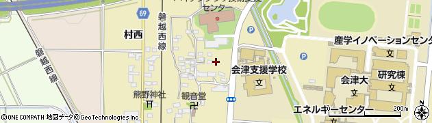 福島県会津若松市一箕町大字鶴賀(下柳原)周辺の地図