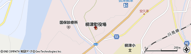 福島県河沼郡柳津町周辺の地図