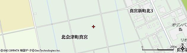 福島県会津若松市北会津町真宮(伊勢宮)周辺の地図