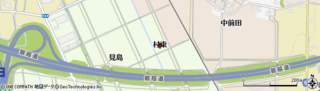 福島県会津若松市町北町大字始(村東)周辺の地図