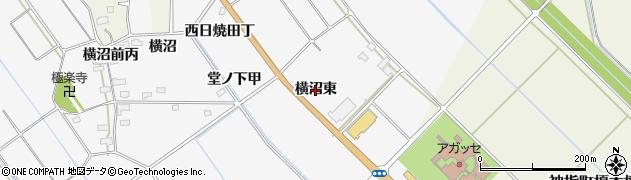 福島県会津若松市神指町大字北四合(横沼東)周辺の地図