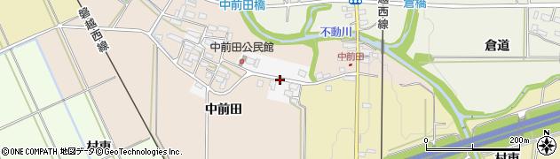 福島県会津若松市高野町中前田周辺の地図