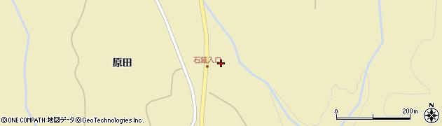 福島県郡山市熱海町石筵(真伏野)周辺の地図