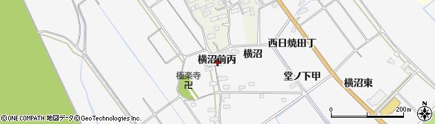 福島県会津若松市神指町大字北四合(横沼前丙)周辺の地図