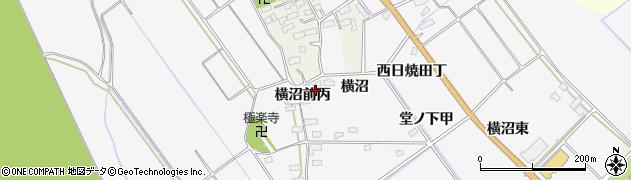 福島県会津若松市神指町大字北四合(横沼)周辺の地図
