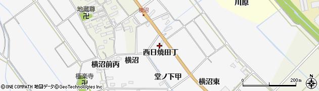 福島県会津若松市神指町大字北四合(西日焼田丁)周辺の地図
