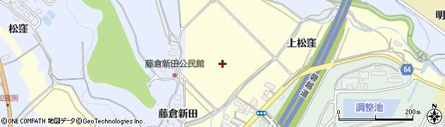 福島県会津若松市一箕町大字松長(上松窪)周辺の地図