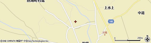 福島県郡山市熱海町石筵(洞場)周辺の地図
