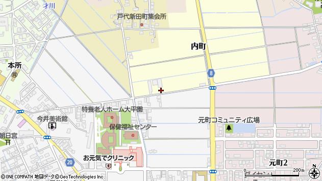 〒954-0008 新潟県見附市内町の地図