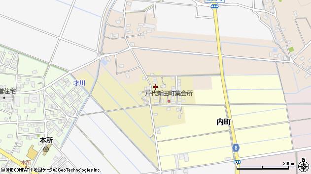 〒954-0005 新潟県見附市戸代新田町の地図