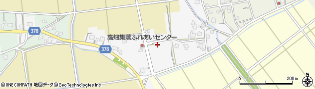 新潟県長岡市中之島高畑周辺の地図
