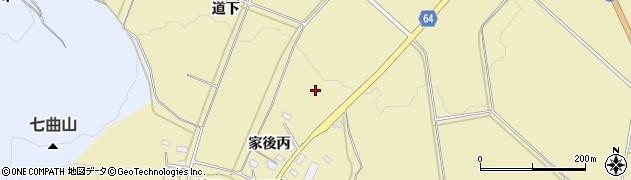 福島県会津若松市河東町八田(家後)周辺の地図