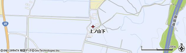 福島県会津若松市河東町金田(上ノ山下戊)周辺の地図