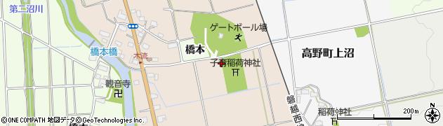 福島県会津若松市高野町橋本木流周辺の地図