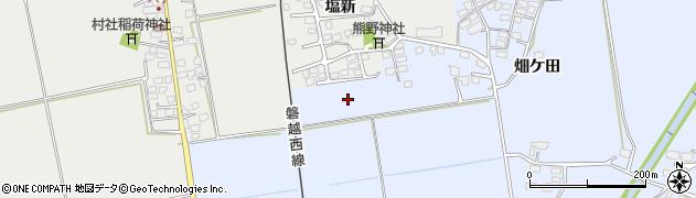 福島県会津若松市河東町金田(勘作甲)周辺の地図