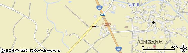福島県会津若松市河東町八田(道上甲)周辺の地図