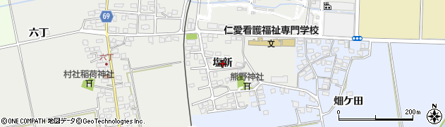 福島県会津若松市河東町広田(塩新)周辺の地図