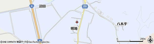 福島県南相馬市小高区女場明地周辺の地図