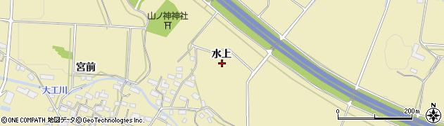 福島県会津若松市河東町八田(水上)周辺の地図