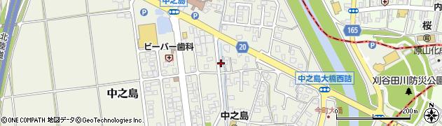 新潟県長岡市中之島周辺の地図