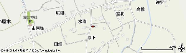 福島県南相馬市小高区上根沢原下周辺の地図