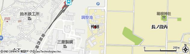 福島県会津若松市河東町浅山(仲田)周辺の地図