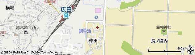 福島県会津若松市河東町浅山(仲田甲)周辺の地図